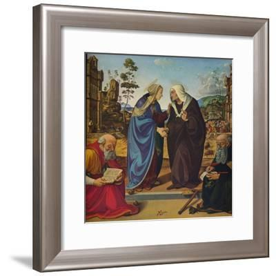 'The Visitation with Saints Nicholas and Anthony Abbot', c1489-1490-Piero di Cosimo-Framed Giclee Print
