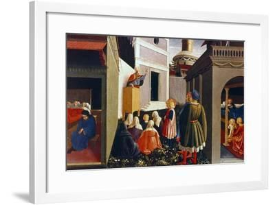 The Vocation of St Nicholas, 1437-Fra Angelico-Framed Giclee Print