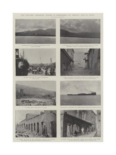 The Volcanic Disasters, Scenes in Martinique, St Vincent, and St Lucia--Giclee Print