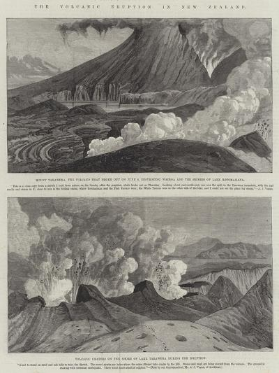 The Volcanic Eruption in New Zealand--Giclee Print
