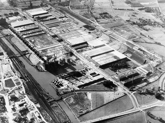 The Volkswagen factory at Wolfsburg, Germany, 1960s-Unknown-Photographic Print