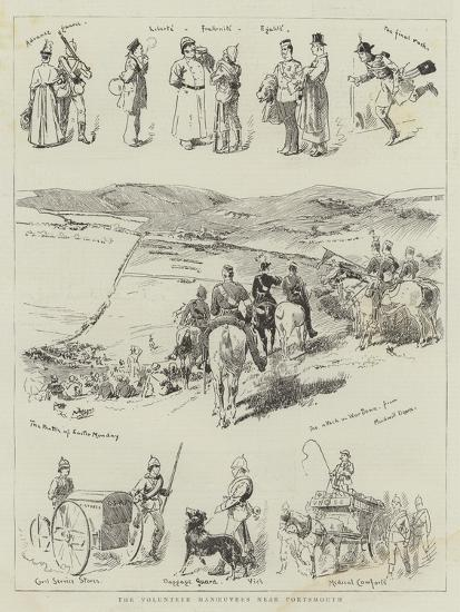 The Volunteer Manoeuvres Near Portsmouth--Giclee Print