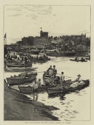 The Volunteer Review, Going Down by River-William Lionel Wyllie-Giclee Print