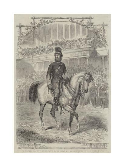 The Volunteer Sham Fight at Brighton on Easter Monday, Lord Ranelagh Passing the Grand Stand--Giclee Print