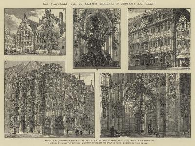 The Volunteer Visit to Belgium, Sketches in Brussels and Ghent-Henry William Brewer-Giclee Print