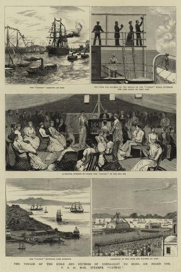The Voyage of the Duke and Duchess of Connaught to India on Board the P and O Mail Steamer Cathay--Giclee Print