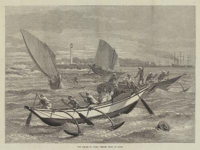 The Voyage to China, Ceylon Boats at Galle-Matthew White Ridley-Giclee Print