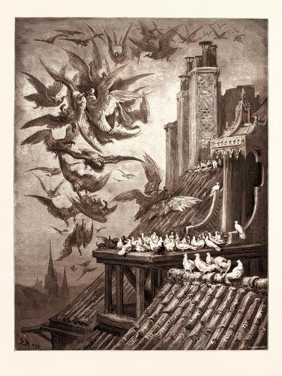 The Vultures and the Pigeons-Gustave Dore-Giclee Print