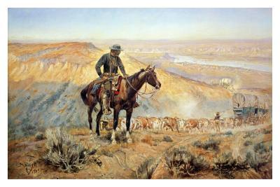 The Wagon Boss-Charles Marion Russell-Art Print