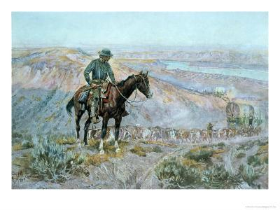 The Wagon Boss-Charles Marion Russell-Giclee Print