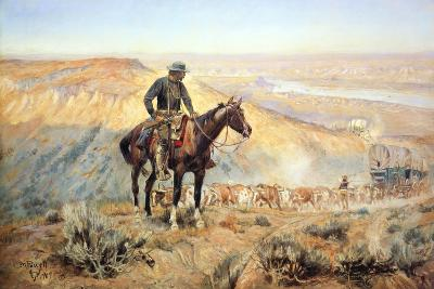 The Wagon Boss-Charles Marion Russell-Premium Giclee Print