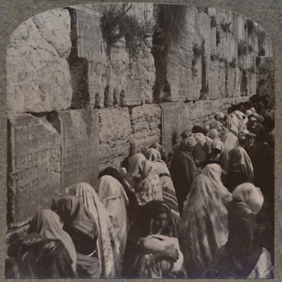 'The Wailing Place of the Jews, Jerusalem', c1900-Unknown-Photographic Print