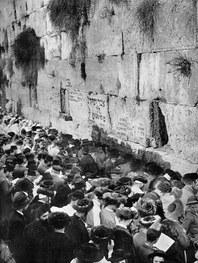 The Wailing Wall, Jerusalem--Giclee Print
