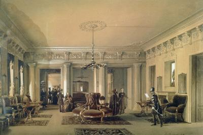 The Waiting Room of the Stagecoach Station in St. Petersburg, 1848 (W/C and Gouache on Paper)-Luigi Premazzi-Giclee Print