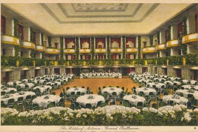 The Waldorf Astoria, Grand Ballroom, C1930S--Giclee Print