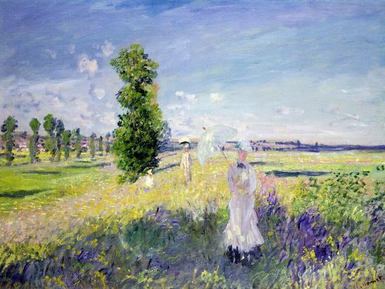 The Walk, circa 1872-75-Claude Monet-Giclee Print