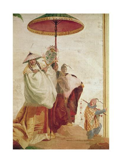 The Walk of the Mandarin-Giandomenico Tiepolo-Giclee Print