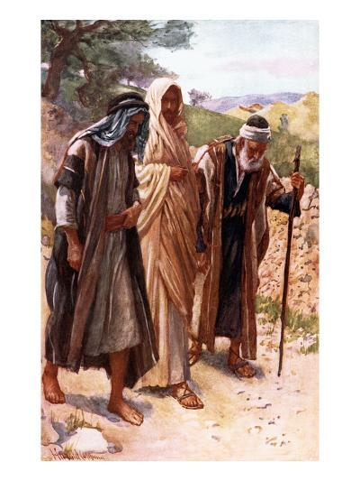 The Walk to Emmaus-Harold Copping-Giclee Print