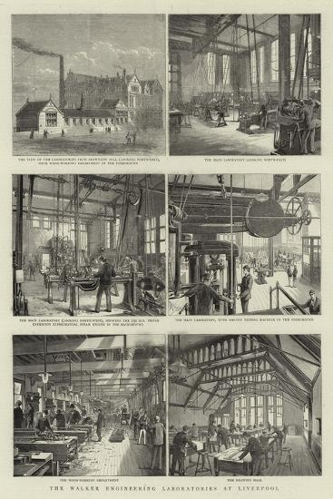 The Walker Engineering Laboratories at Liverpool--Giclee Print