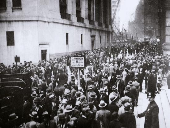 The Wall Street Crash, New York City, USA, Thursday, 24 October 1929-Unknown-Photographic Print