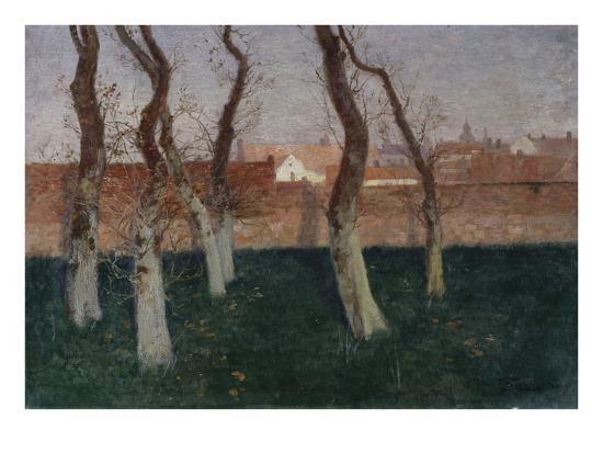 The Walled Garden-Fritz Thaulow-Giclee Print