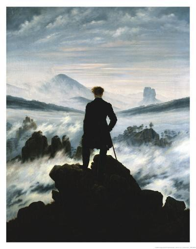 The Wanderer Above the Sea of Fog, 1818-Caspar David Friedrich-Art Print