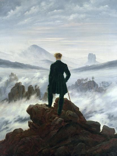 The Wanderer Above the Sea of Fog, 1818-Caspar David Friedrich-Premium Giclee Print