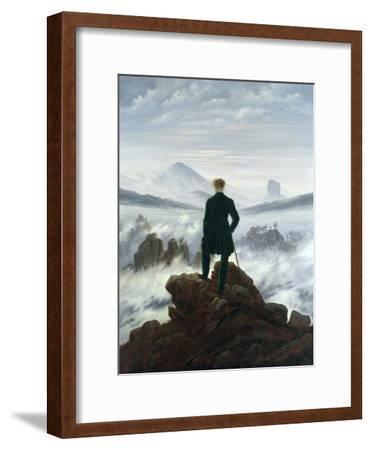The Wanderer Above the Sea of Fog, 1818-Caspar David Friedrich-Framed Giclee Print