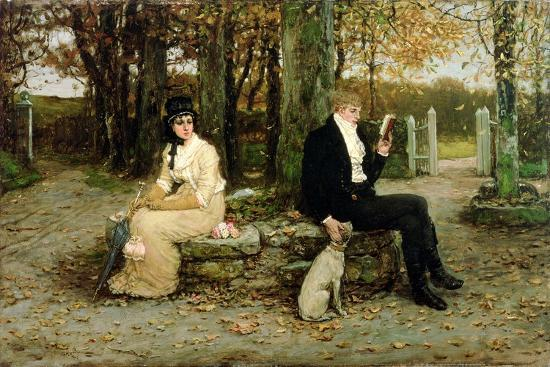 The Waning Honeymoon, 1878-George Henry Boughton-Giclee Print