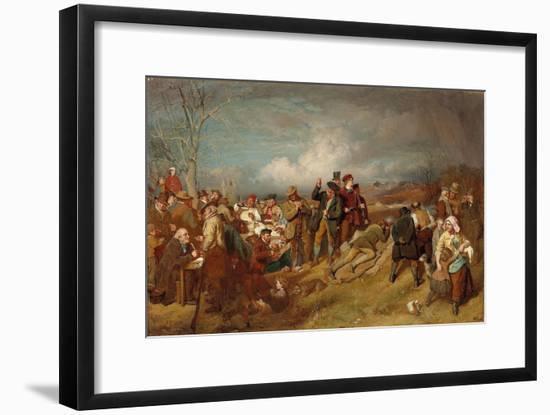 The Wappenshaw: a Shooting Match-John Faed-Framed Premium Giclee Print