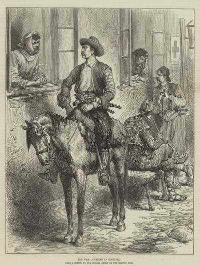 The War, a Friend in Hospital--Giclee Print
