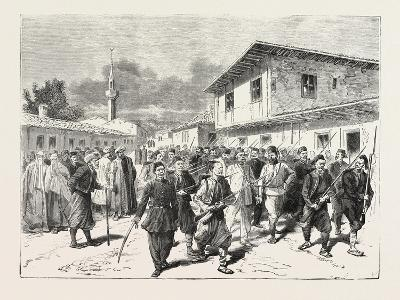 The War: a Party of Insurgents Being Conducted to Prison by the Turks, 1876--Giclee Print