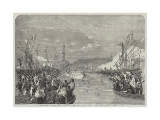 The War, Arrival of the Emperor Napoleon at the Port of Genoa-Richard Principal Leitch-Giclee Print