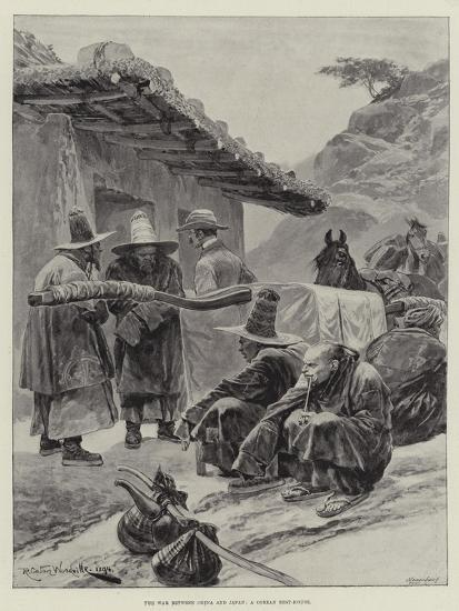 The War Between China and Japan, a Corean Rest-House-Richard Caton Woodville II-Giclee Print