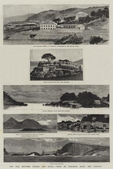The War Between France and China, Views at Foochow, Amoy, and Formosa--Giclee Print