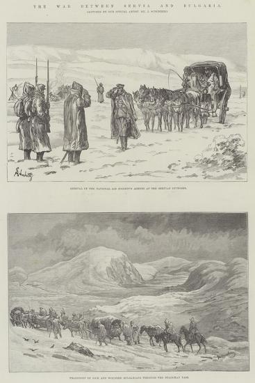 The War Between Servia and Bulgaria-Johann Nepomuk Schonberg-Giclee Print