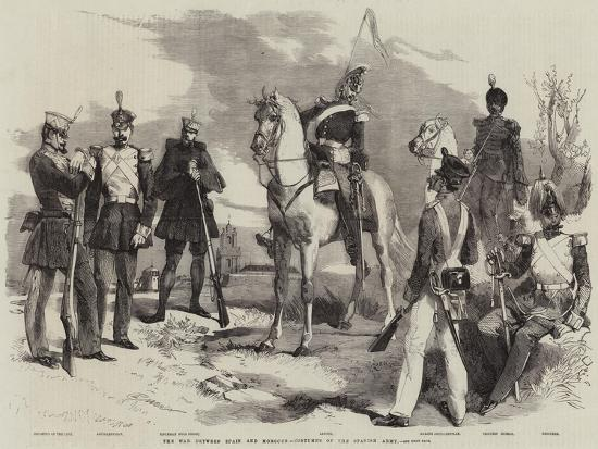 The War Between Spain and Morocco, Costumes of the Spanish Army-Edmond Morin-Giclee Print