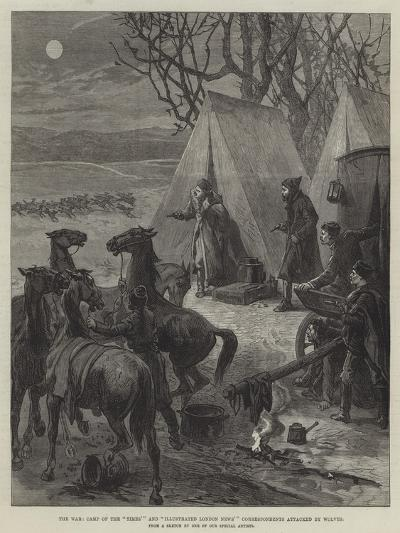 The War, Camp of the Times' and Illustrated London News' Correspondents Attacked by Wolves--Giclee Print