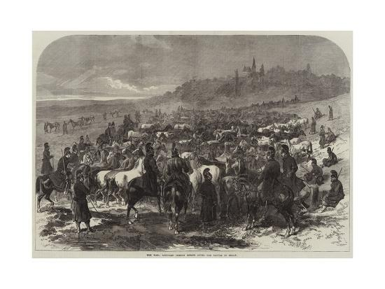 The War, Captured French Horses after the Battle of Sedan-Arthur Hopkins-Giclee Print