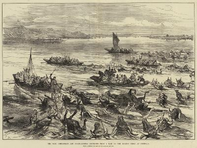 The War, Circassians and Bashi-Bazouks Returning from a Raid on the Enemy's Shore at Nicopolis--Giclee Print