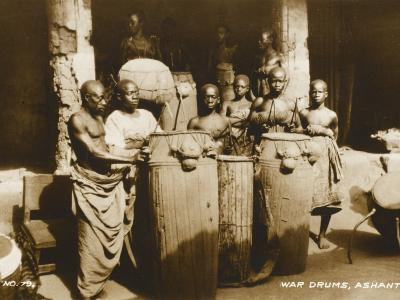 The War Drums of the Ashanti Tribesmen - Gold Coast, West Africa - Ghana--Photographic Print