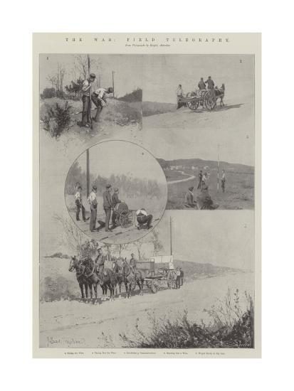 The War, Field Telegraphy-Joseph Holland Tringham-Giclee Print