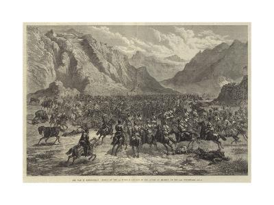 The War in Afghanistan, Charge of the 2nd Punjaub Cavalry in the Action at Shahjui, on 24 October-Johann Nepomuk Schonberg-Giclee Print