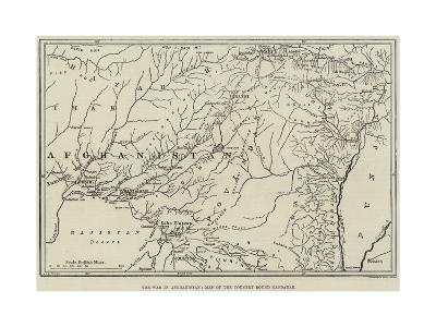 The War in Afghanistan, Map of the Country Round Candahar--Giclee Print