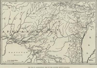 The War in Afghanistan, Map of the Country Round Candahar