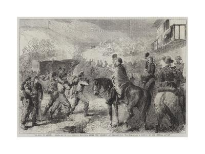 The War in America, Bringing in the Federal Wounded after the Skirmish at Lewinsville Virginia--Giclee Print