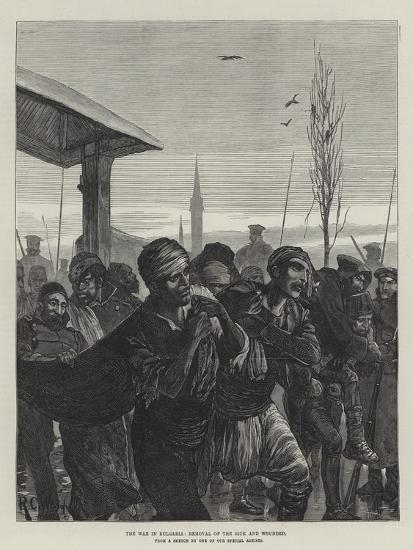 The War in Bulgaria, Removal of the Sick and Wounded-Richard Caton Woodville II-Giclee Print