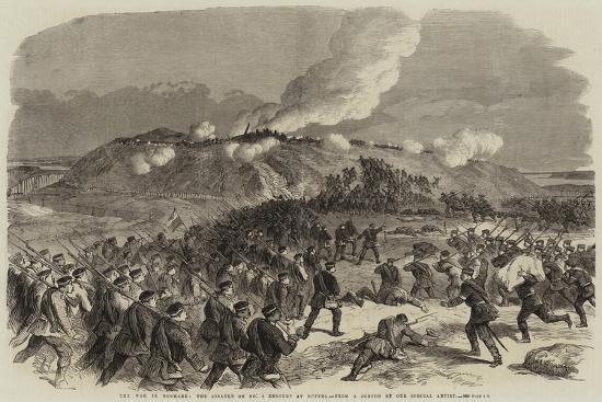 The War in Denmark, the Assault on No 4 Redoubt at Duppel--Giclee Print