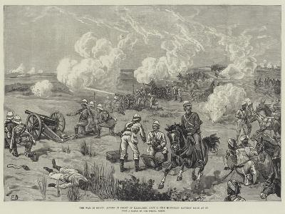 The War in Egypt, Action in Front of Kassassin, 9 September, the Mountain Battery Hard at It-Frank Dadd-Giclee Print