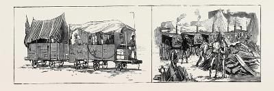 The War in Egypt: Armour-Plated Trucks Running Between Ismailia and the Front (Left); Field Bakery--Giclee Print